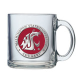 Washington State Cougars Logo Clear Coffee Mug Set