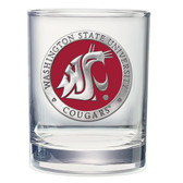 Washington State Cougars Double Old Fashioned Glass Set