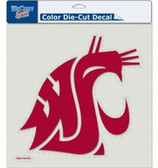 """Washington State Cougars Die-Cut Decal - 8""""x8"""" Color"""