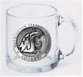 Washington State Cougars Clear Coffee Mug Set