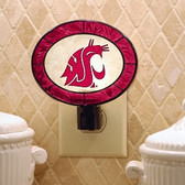 Washington State Cougars Art Glass Nightlight