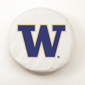 Washington Huskies White Tire Cover, Small