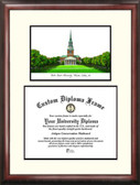 Wake Forest University Scholar Framed Lithograph with Diploma