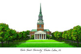 Wake Forest University Lithograph
