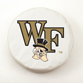 Wake Forest Demon Deacons White Tire Cover, Large