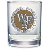 Wake Forest Demon Deacons Double Old Fashioned Glass Set