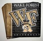 Wake Forest Demon Deacons Beverage Napkins