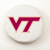 Virginia Tech Hokies White Tire Cover, Large