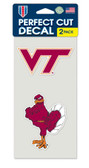 Virginia Tech Hokies Set of 2 Die Cut Decals