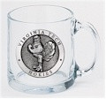 Virginia Tech Hokies Clear Coffee Mug Set