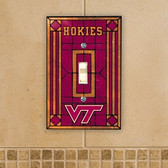 Virginia Tech Hokies Art Glass Switch Cover