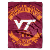 "Virginia Tech Hokies 60""x80"" Royal Plush Raschel Throw Blanket - Rebel Design"