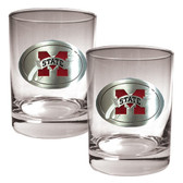 Virginia Tech Hokies 2pc Rocks Glass Set