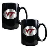 Virginia Tech Hokies 2pc Coffee Mug Set