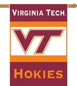 """Virginia Tech Hokies 2-Sided 28"""" x 40"""" Banner w/ Pole Sleeve"""