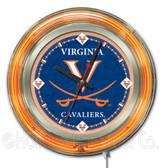 Virginia Cavaliers Neon Clock