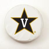 Vanderbilt Commodores White Tire Cover, Large