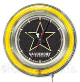 Vanderbilt Commodores Neon Clock
