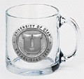 Utah Utes Clear Coffee Mug Set