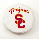 USC Trojans White Tire Cover, Small