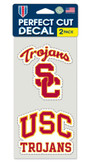 USC Trojans Set of 2 Die Cut Decals