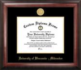 University of Wisconsin Milwaukee Gold Embossed Medallion Diploma Frame