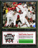 University of South Carolina Gamecocks 2011 Men's NCAA College Baseball World Series Champions Plaque