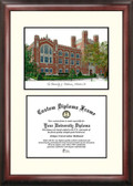 University of Oklahoma Scholar Framed Lithograph with Diploma