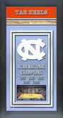 University of North Carolina Tar Heels Framed Championship Banner