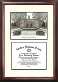 University of Nebraska, Lincoln Scholar Framed Lithograph with Diploma