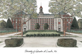 University of Nebraska, Lincoln Lithograph