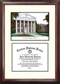 University of Mississippi Scholar Framed Lithograph with Diploma