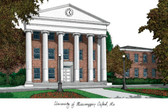 University of Mississippi Lithograph