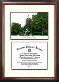 University of Michigan Scholar Framed Lithograph with Diploma