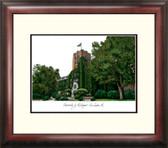 University of Michigan Alumnus Framed Lithograph
