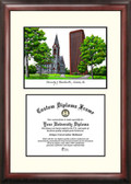 University of Massachusetts Scholar Framed Lithograph with Diploma