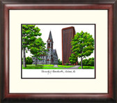 University of Massachusetts Alumnus Framed Lithograph