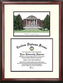 University of Louisville Scholar Framed Lithograph with Diploma