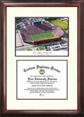 University of Iowa: Kinnick Stadium Scholar Framed Lithograph with Diploma
