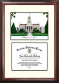 University of Iowa Scholar Framed Lithograph with Diploma