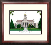 University of Iowa Alumnus Framed Lithograph