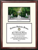 University of Georgia Scholar Framed Lithograph with Diploma