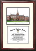 University of Cincinnati Scholar Framed Lithograph with Diploma