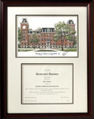 University of Arkansas Scholar Framed Lithograph with Diploma