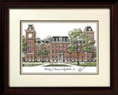 University of Arkansas Alumnus Framed Lithograph