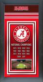 University of Alabama Crimson Tide 2012 BCS National Champions Framed Championship Banner