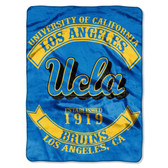 "UCLA Bruins 60""x80"" Royal Plush Raschel Throw Blanket - Rebel Design"