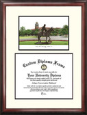 Texas Tech University Scholar Framed Lithograph with Diploma