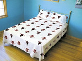 Texas Tech Red Raiders White Sheet Set (King)