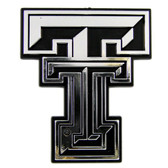 Texas Tech Red Raiders Silver Auto Emblem